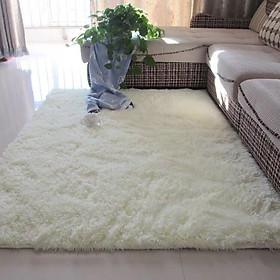 Thảm lông trải sàn 1m6x2m - màu trắng
