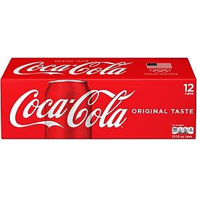 Thùng 12 Nước ngọt Coca Cola Mỹ lon 355ml