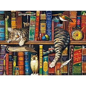 Tranh ghép hình 1000 mảnh giấy Charles wessock cat 50x75cm