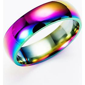 Romantic Alloy Colorful Titanium Classic Wedding Ring Titanium Steel Fashion