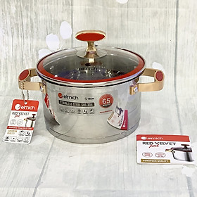 Xoong inox 304 Red Velvet 18cm - Hàng chính hãng Thương hiệu Elmich Cộng hòa Séc - Chất liệu: Inox - Bảo hành: 5 năm -  - Cấu tạo 5 lớp đáy - Nồi sử dụng được trên bếp từ, bếp ga, bếp hồng ngoại...