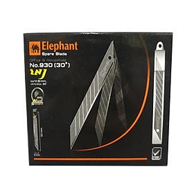 Bộ 2 Lưỡi Dao Rọc Giấy Elephant 30°, 9Mm No.930