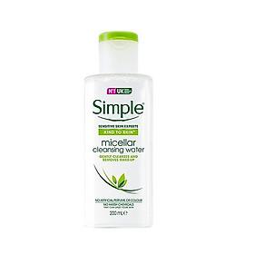 Nước tẩy trang Simple Cleansing Micellar Water - Xanh Lá - 200ml [ Được Mask 3W Clinic ]