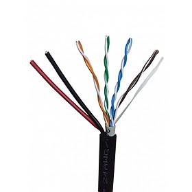 Cáp Lan liền nguồn Cat5E UTP 24AWG 4PRS/PVC + 2VCm 0.5mm2 - PE - OVAL (305m) - Hàng Chính Hãng