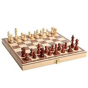 Wooden Chess Folding Wooden High-grade Chess Adults And Children Educational Toys Parent-child Interaction Toys Portable