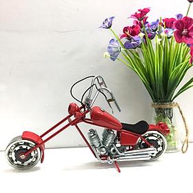 Mô hình xe sắt trang trí xe Moto Harley Davidson Chopper - Màu Đỏ - Mỹ Nghệ Sắt