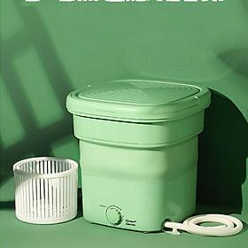 Máy giặt mini gấp gọn du lịch tặng lồng vắt