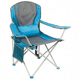 Ghế xếp tay tựa có đệm lưng Coleman - xanh dương -2000019207 - Lumbar Quad Chair Blue