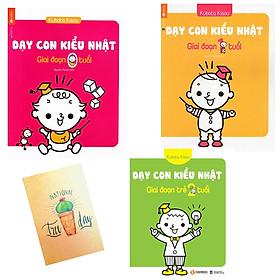 Combo Sách Dạy Con Kiểu Nhật - Giai Đoạn Trẻ 0 Tuổi và Dạy Con Kiểu Nhật - Giai Đoạn Trẻ 1 Tuổi và Dạy Con Kiểu Nhật - Giai Đoạn Trẻ 2 Tuổi ( Tặng Kèm Sổ Tay)