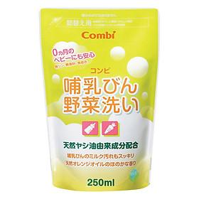 Túi Dung Dịch Rửa Bình Sữa Và Rau Quả Từ Dầu Cọ Combi (250ml)