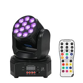 Bộ 4 Đèn LED Mini RGBW Xoay Ánh Sáng 14/16 Kích Hoạt Âm Thanh (50W) (Đầu US)