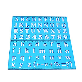 Plastic Drawing Ruler Alphabet & Number Hollow Template Stencil Learning Tool for Children Students(Random Pattern)