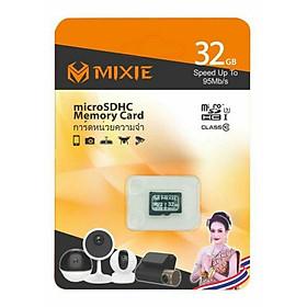 Thẻ Nhớ MicroSD MIXIE 32G Class10 Mixie Box 95Mb/s (tặng kèm đầu đọc thẻ nhớ cao cấp) - hàng nhập khẩu (TẶNG KÈM ĐẦU ĐỌC THẺ NHỚ)