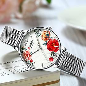 Đồng hồ nữ cao cấp đính đá hoa sang trọng CURREN 9060 thiết kế chống nước 3ATM
