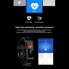 Smart Bracelet Fitness Tracker 0.96in TFT Display Screen Heart Rate Monitor Sleep Monitoring Call Reminder Smart Band Sport Pedome-3