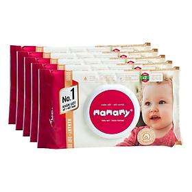 Combo 5 Gói Khăn Giấy Ướt Mamamy Có Mùi (100 Tờ / Gói)