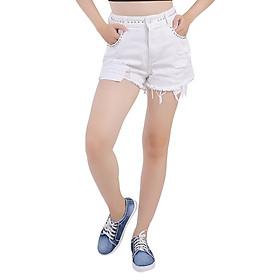 Quần Short Jeans Nữ Đính Hạt 002 thời trang A91 JEANS WSRBS002WH - Trắng
