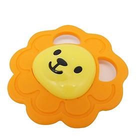 Đồ chơi gặm nướu cho bé hình sư tử màu cam tặng xe trượt đà cho bé VBC-123-6 (ngẫu nhiên)