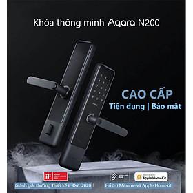 Khoá Cửa Thông Minh Aqara N200, mở khóa bằng vân tay, mật khẩu, khóa cơ, NFC và Apple HomeKit