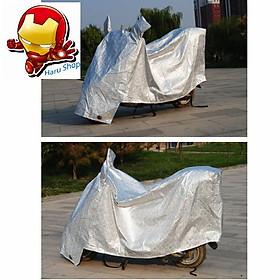 Áo trùm bạt phủ xe máy nhôm bạc chống nóng – HanruiOffical