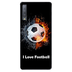 Ốp lưng cho Samsung Galaxy A7 2018  - I Love Football