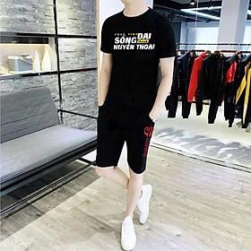 Set Bộ Đồ Quần Áo Thun Nam In Hình Free Fire Công Nghệ Hàn Quốc cotton giá rẻ - Bộ đen sống dai