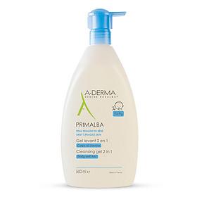 Gel Làm Sạch Tóc Và Toàn Thân Dịu Nhẹ Cho Bé A-Derma Primalba Cleansing (500ml)