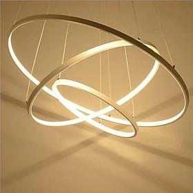Bộ đèn thả led 3 vòng mạ xi vàng Kt  3 vòng lần lượt 300-500-700 (mm)