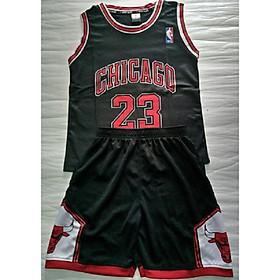 Bộ quần áo bóng rỗ trẻ em Chicago đen 2020 2021
