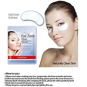 Mặt nạ dưỡng mắt PUREDERM Collagen Eye Zone Mask - Cung cấp collagen cho vùng mắt - 30 miếng