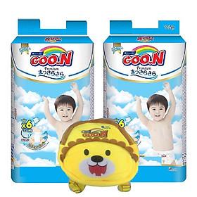 Combo 2 bịch bỉm Goon premium tặng kèm balo ngộ nghĩnh cho bé
