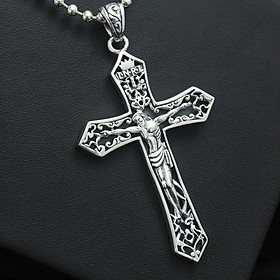 Mặt dây chuyền Thánh giá chúa Jesus mặt dây chuyền bạc thái