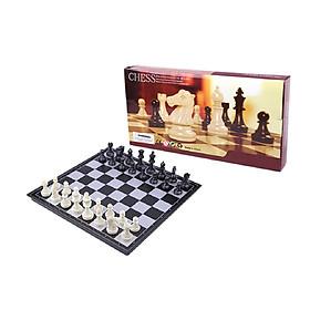 Bộ bàn cờ vua bằng nhựa có nam châm quân đen- trắng cao cấp Bàn cờ vua nam châm tiêu chuẩn