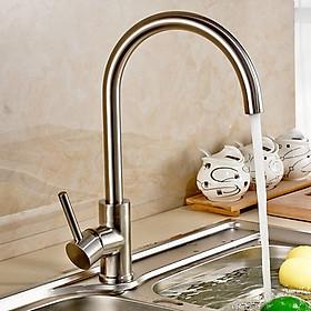 Vòi rửa chén, rửa bát nóng lạnh Inox SUS 304 tặng kèm 2 dây cấp nước nóng lạnh (60 cm)