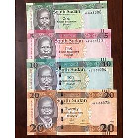 Bộ tiền cổ Nam Sudan, quốc gia trẻ nhất thế giới, 4 tờ sưu tầm