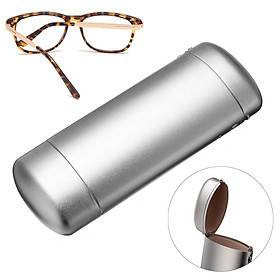 Hard Metal Glossy Glasses Spectacle Case Box Storage Eyeglasses Case Protector
