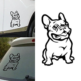 Fashion French Bulldog Dog Car Sticker Decoration