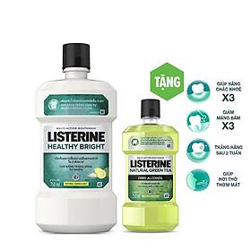 Nước súc miệng Listerine trắng sáng 750ml Tặng 1 trà xanh 250ml 101058744