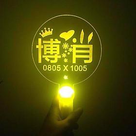 Lightstick Chiến Bác Tiêu chiến Vương Nhất Bác gậy cổ vũ ánh sáng hòa nhạc phát sáng thần tượng trung quốc tặng ảnh thiết kế vcone