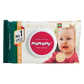 Khăn Giấy Ứớt Không Mùi Kháng Khuẩn An Toàn Cho Bé Mamamy (80 Tờ Nắp ) - Xanh