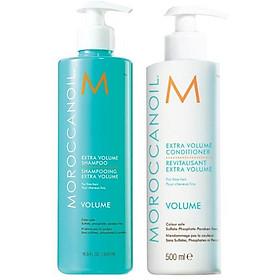 Bộ dầu gội xả tăng phồng tóc Moroccanoil Extra Volume shampoo Conditioner 500ml - Hàng chính hãng-0