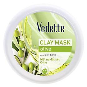 Mặt Nạ Đất Sét Sạch Sâu Dịu Nhẹ Vedette Olive (Nuôi Dưỡng) - Hũ 145g
