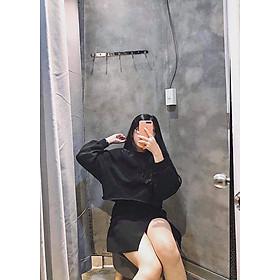 Áo croptop nữ dài tay thu đông kiểu dáng thời trang Hàn Quốc
