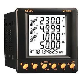 SELEC MFM384-C - Đồng hồ đo: V, A. Hz, Pf, kW, kVA, kVAr,kWh, kVArh, kVAh và đo kWh, kVAh & kVArh