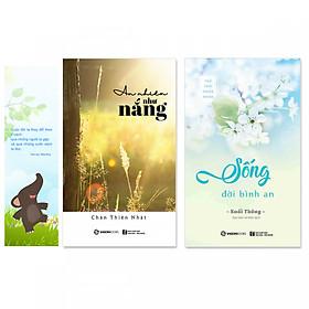 Combo 2 cuốn: Sống Đời Bình An, An Nhiên Như Nắng + Bookmark danh ngôn hình voi