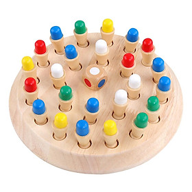 Kids Wooden Memory Match Stick Chess Game Educational Toys Brain Training