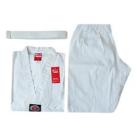 Võ Phục Taekwondo Tân Việt Cổ Trắng Xuất Khẩu DPVTTEACTTVD - Trắng