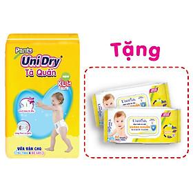 Tã quần UniDry G1 XL34 tặng 1 gói khăn ướt UniFresh Vitamin E