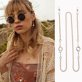 Women Sunglasses Chain Simple Circle Hanging Neck Non-slip Glasses Eyeglass Cord