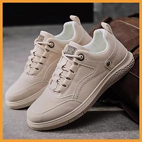 Giày thể thao nam phong cách, Sneaker Nam cổ thấp, Giày nam Da Lộn cực dễ phối đồ